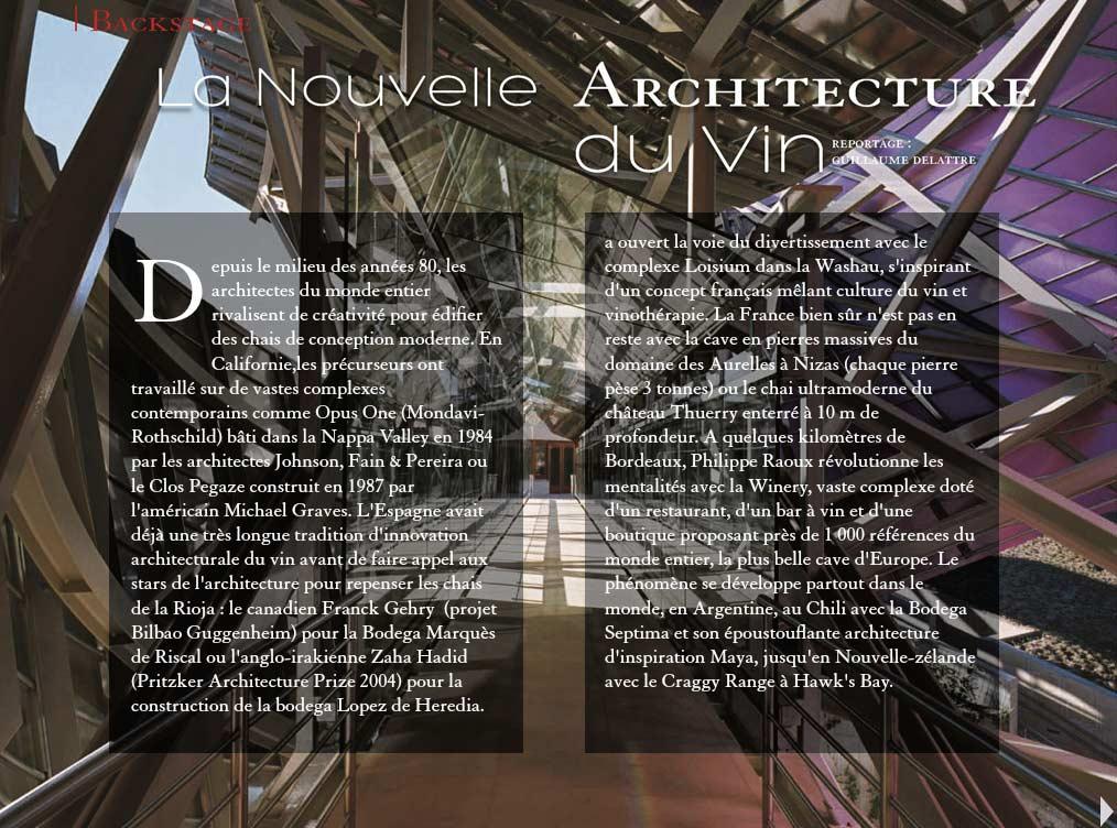 Projet vins & Architecture/ Absolute Editions numériques